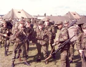 Members of 3 Coy 10 PARA Annual Camp West Germany Sept 1979