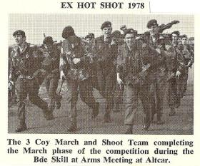 3 Coy (10 PARA) March and Shoot Team, Ex Hot Shot, March 1978.
