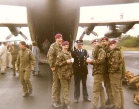 Members of 10 PARA prior to Arnhem commemorative jump September 1983