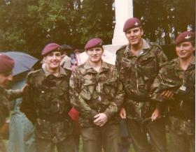 Members of 3 Coy, 10 PARA, at Arnhem Memorial Service Oosterbeek Cemetery September 1983