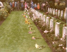 Oosterbeek Cemetery after the memorial service September, 1983