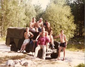Members of 3 Coy, 10 PARA, adventure training Cairngorms 1983