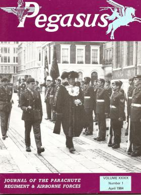 Laying up old 10 PARA Colours St Lawrence Jewry, City of London, 12 Nov 1983.