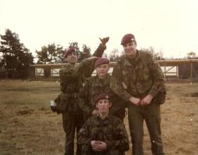 Members of 3 Coy, 10 PARA, Pirbright February 1981