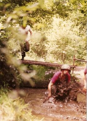 10 PARA Training Wing Assault Course Aldershot July 1983