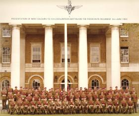 Warrant Officers' and Sgts' Mess, presentation of new Colours to 10 PARA, Duke of Yorks Barracks London 3 June 1983.
