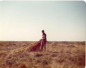 Pte Mark Ross on Diepholz DZ German Para Course, 1978.