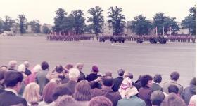 4,10 and 15 PARA on parade Airborne Forces Days Aldershot 1978