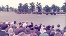 4,10 and 15 PARA on parade Airborne Forces Days Aldershot 1978