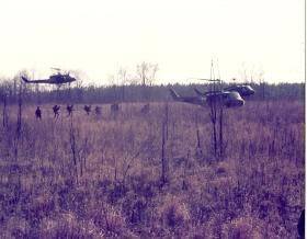 Members of 10 PARA on exercise, Fort Campbell Kentucky, March 1979.