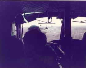 Members of 10 PARA on exercise in a Huey, Fort Campbell Kentucky, March 1979.
