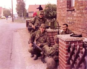 Members of 10 PARA on NATO Exercise Annual Camp West Germany September 1979