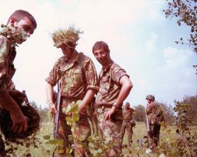 Members of 10 PARA on Exercise Fort Wainwright Alberta Canada July 1980
