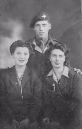 Sidney Round with his wife and sister.
