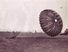 Paratroopers landing at Netheravon during Exercise Longstop 1947