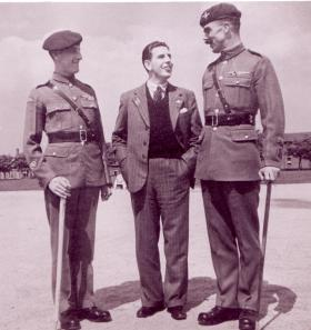 CSM J Alcock, Ray Sheriff and RSM J Lord. Date unknown.