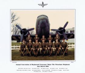 Annual Convention of Regimental Sergeants Major The Parachute Regiment,  2 March 1983.