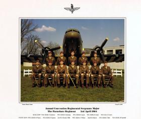 Annual Convention Regimental Sergeants Major The Parachute Regiment, 2 April 1984.