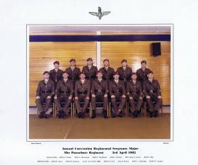 Annual Convention Regimental Sergeants Major The Parachute Regiment, 3 April 1982.
