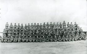 Group photo of HQ Company, 1st Royal Ulster Rifles, 1944