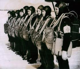Russian medics ready to take off.