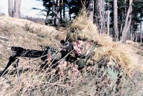 SA80 Light Support Weapon (LSW), c1985.