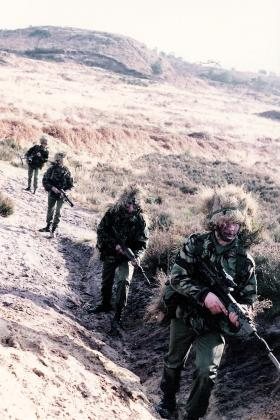 Paratroopers with SA80 rifles, c1985.