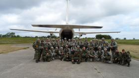 Multi-national jumpers prior to 68th Anniversary of D-Day jump, 2012.