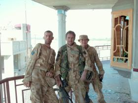 Members of 51 Para Sqn RE at the Governor's House, Sangin, July 2006