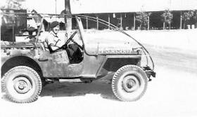 Pte Peter Charlton at Sarafano, Palestine, November 1945.