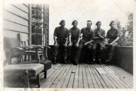 Alfred Cannon with other members of 1st Airborne Recce Feiring Norway, 1945.