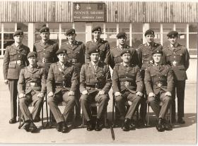 Group photograph of Para Sqn RAC Promotion course, 1971