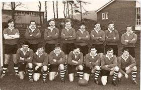 Group photograph of the Parachute Squadron Rugby Team, Northern Ireland, 1972.