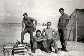 Members of F Battery, 7 PARA RHA, Das Island in the Persian Gulf, 1963.