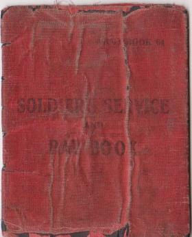 L/Sgt Howell's Soldier's Service and Pay Book c1939