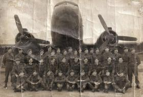 Group photo believed to be members of Course 102, RAF Ringway, February 1944.