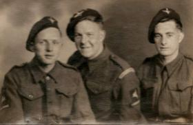 Pte Charles O'Hara and two pals, date unknown.