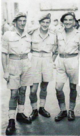 Three members of A Company, 2nd Parachute Battalion, Italy, 1943.