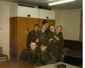 Members of 8 Platoon, Junior Para Coy, Pirbright 1987.