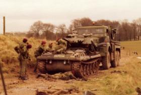 PARA SQN RAC, Scorpion Repairs on Salisbury Plain c1973.