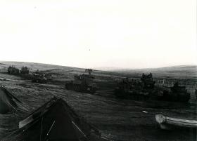 Scorpions on Wireless Ridge after the battle, Falklands 1982.