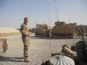 Warthog Armoured Vehicle Prior to a Patrol, Afghanistan, 2010