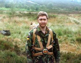 Sgt 'Bill' Baillie, Hankley Common, May 1988.