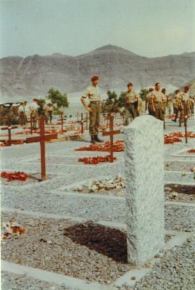 Service at Little Aden Cemetry, Aden, 1967