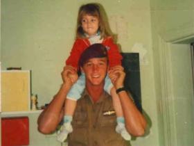 Sgt Louis Botha with niece
