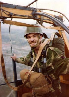 Sgt David 'Aron' Garside GM, Balloon Jump, Sonning Common, 1979.