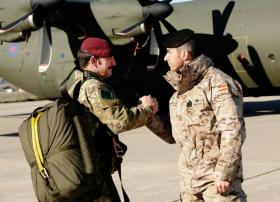 A British and Spanish Para prior to a drop, Ex Iberian Eagle, Spain, December 2012.