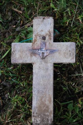 The grave marker for Sgt Harry Ellis, Durham Rd Cemetery, Stockton on Tees, June 2013.