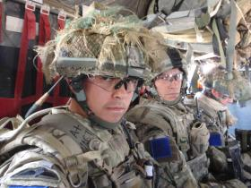 Soldiers of 2 PARA onboard an aircraft, Afghanistan, 2010