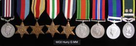 Medal Set of Sgt Maj George Hurry MM